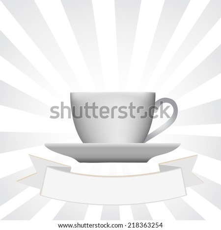 Cup of coffee, vector illustration - stock vector