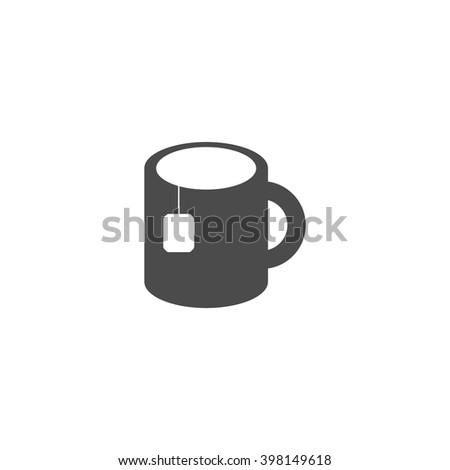 cup tea tea bag vector icon stock vector 395420035 - shutterstock