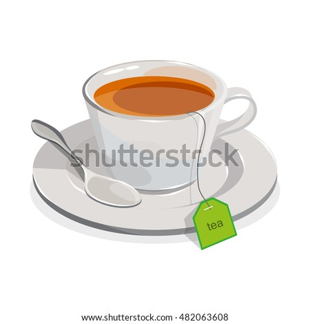 cup of tea.Realistic image isolated on a white background
