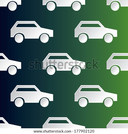 cup paper car poster design vector illustration. pattern seamless