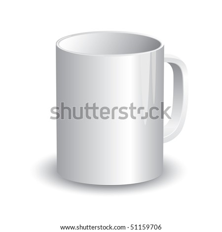 Cup Template (vector). In the gallery also available XXL jpeg version of this image. - stock vector