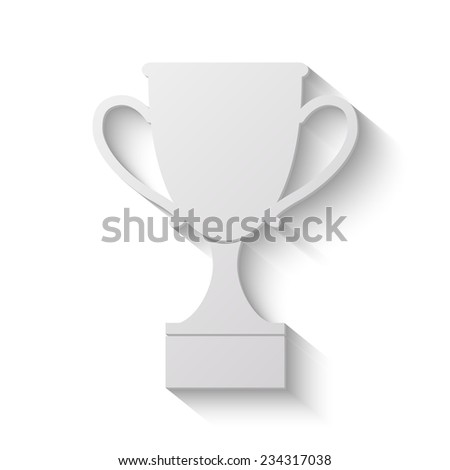 cup vector icon - paper illustration - stock vector