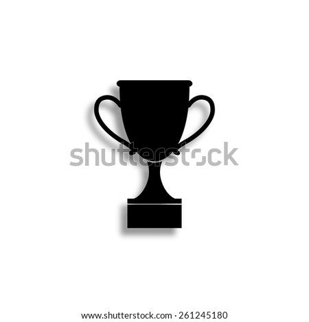 cup vector icon with shadow - stock vector