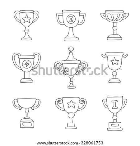 Cup. Vector icons, hand-drawn.