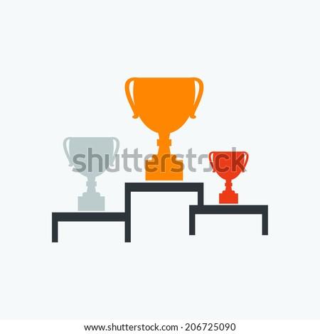 Cup winner icon - stock vector