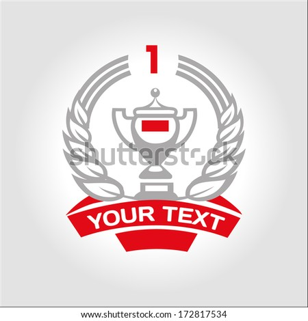 Cup winner. Sports background - stock vector