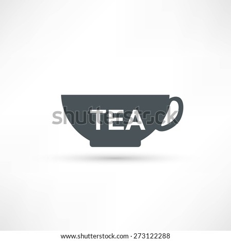 cup with tea icon - stock vector