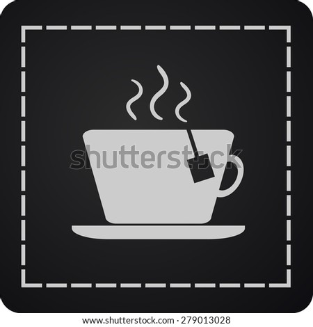 cup with the hot tea.Vector icon - stock vector