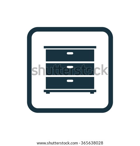 cupboard icon, on white background