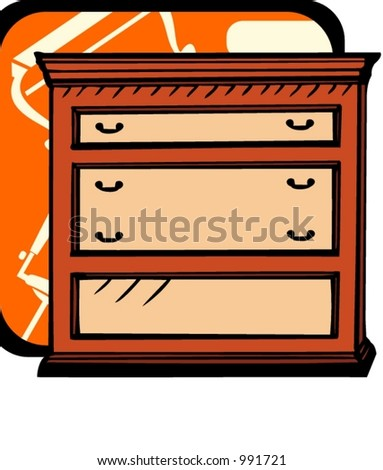 Cupboard.Pantone colors.Vector illustration