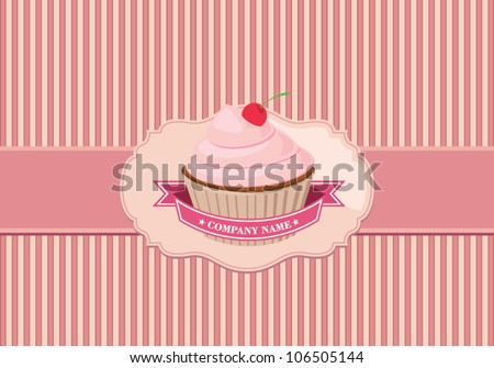 cupcake background - stock vector