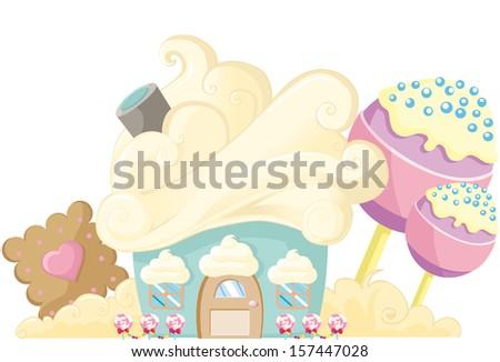 cupcake cream - stock vector