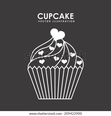 Cupcake Design Vector : Vector Vintage Blueberry Cupcake Drawing Hand Stock Vector ...