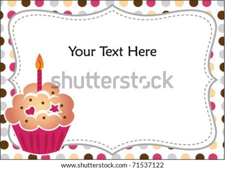 Cupcake Invitation - stock vector