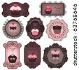 cupcake labels - stock vector