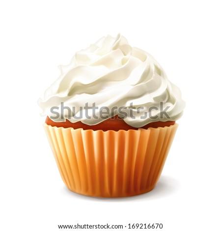 Cupcake vector - stock vector