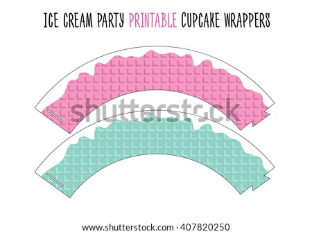 Cupcake wrappers. Ice cream party