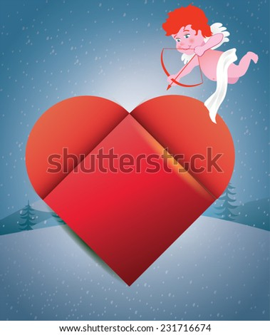 Cupid - Happy Valentine's Day - stock vector