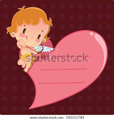 Cupid has a message - stock vector