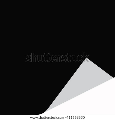 Curled corners of note papers, Vector illustration. - stock vector