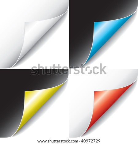 Curled Pages (vector). In the gallery also available XXL jpeg version of this image. - stock vector