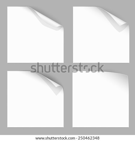 Curled Paper Corner with Dark Background. Vector Illustration - stock vector