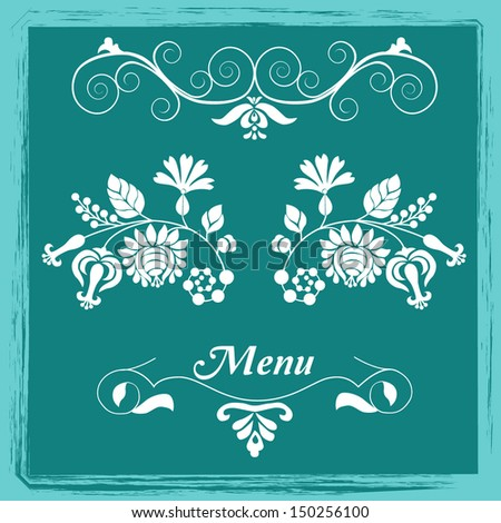Curly decorative elements - stock vector