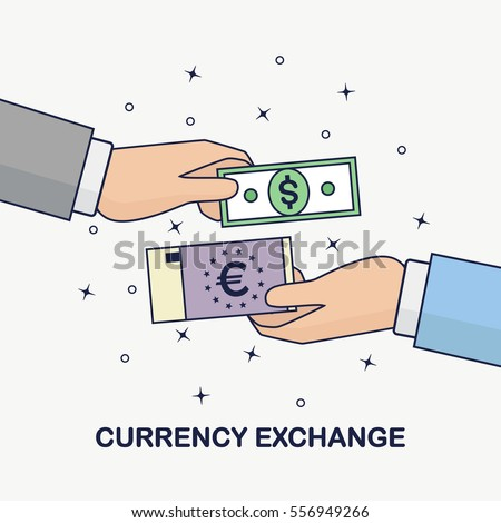 Currency Exchange Foreign Money Transfer Dollar Stock Photo Photo