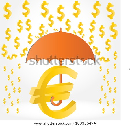 Currency exchange rates dollar-euro - stock vector