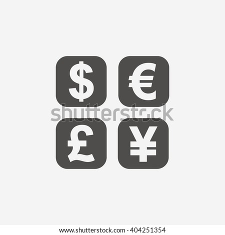 Currency exchange sign icon. Currency converter symbol. Money flat icon on white background. Vector