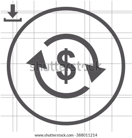 Currency exchange vector icon. - stock vector