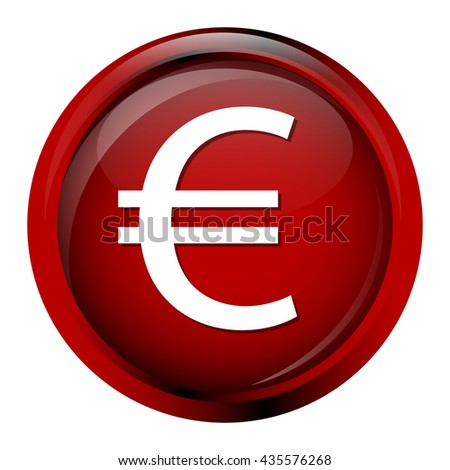 Currency icon euro symbol vector illustration - stock vector