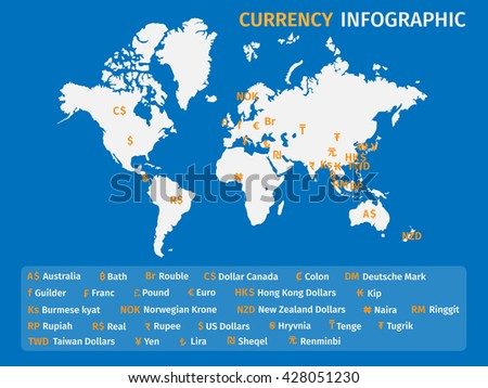 Currency icons logo illustration vector world stock vector 428051230 currency icons and logo illustration vector the world map business and finance gumiabroncs Images
