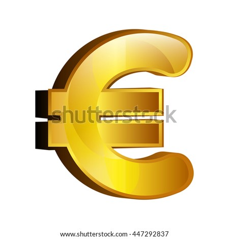 Currency money eur symbol icon over white background, vector illustration.