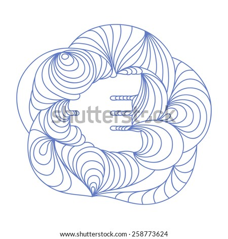 Currency sign. Euro. - stock vector