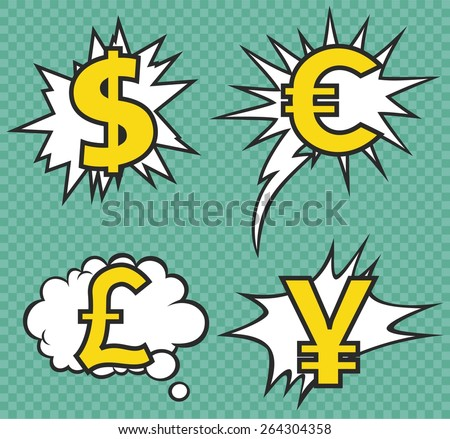 CURRENCY SIGN VECTOR - stock vector
