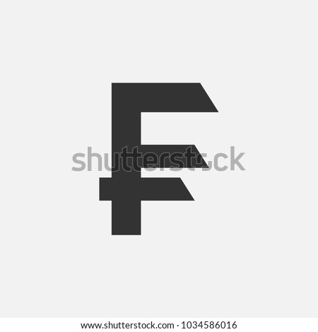 Currency Symbol French Franc Vector Illustration Stock Photo Photo