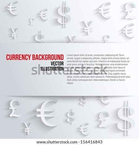 Currency Symbol Space Text Background About Stock Vector 156416843