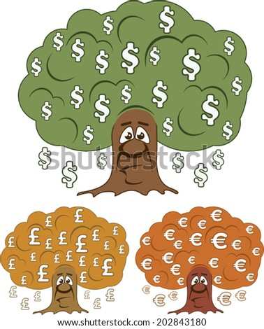 Currency Trees vector