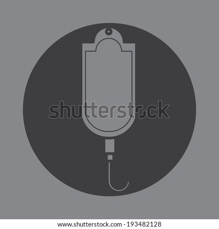 Current Saline Shortage icon symbol vector  - stock vector