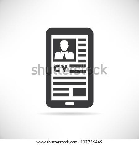 curriculum vitae mobile phone resume job stock vector 197736449