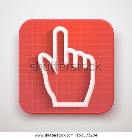 Cursor icon click mouse hand. Vector Illustration for Web and Mobile Application. Premium design. - stock vector