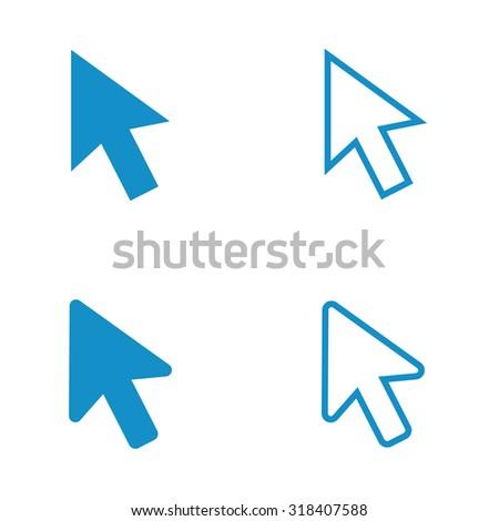 Cursor icon set . Vector illustration - stock vector