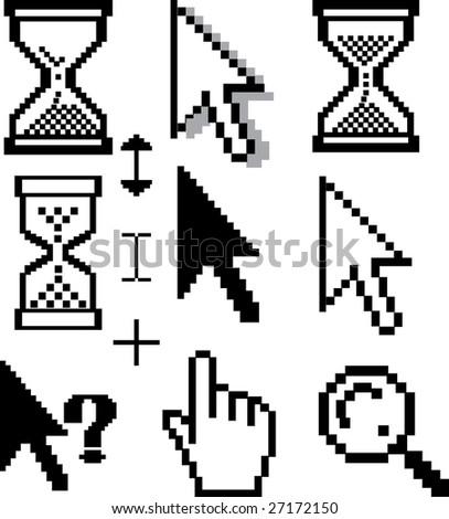 cursor set - vector - stock vector