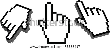 cursors - stock vector