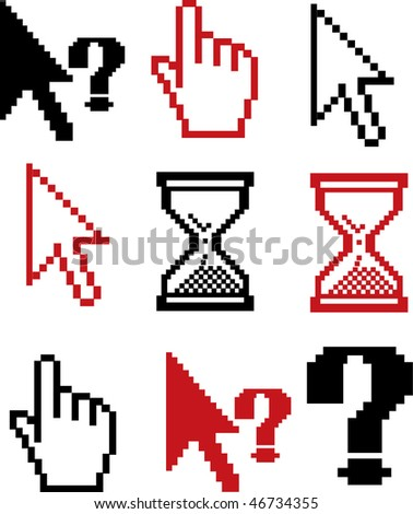 cursors signs. vector