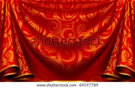 Curtain pattern - stock vector