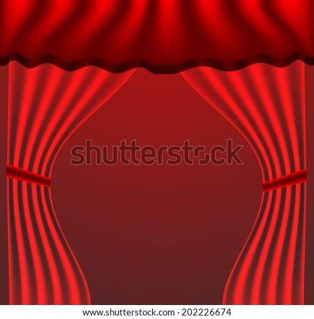 curtain vector background - stock vector