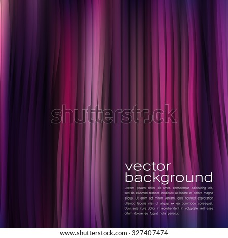 Curtain Vector Background - stock vector