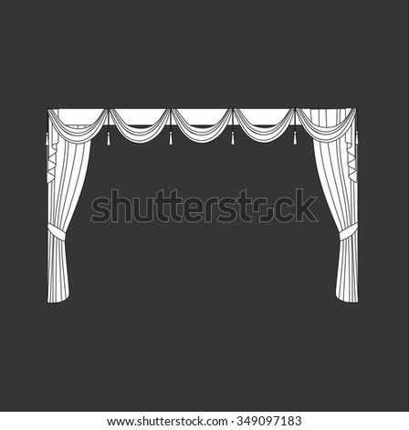 curtains . classic curtains . lambrequin